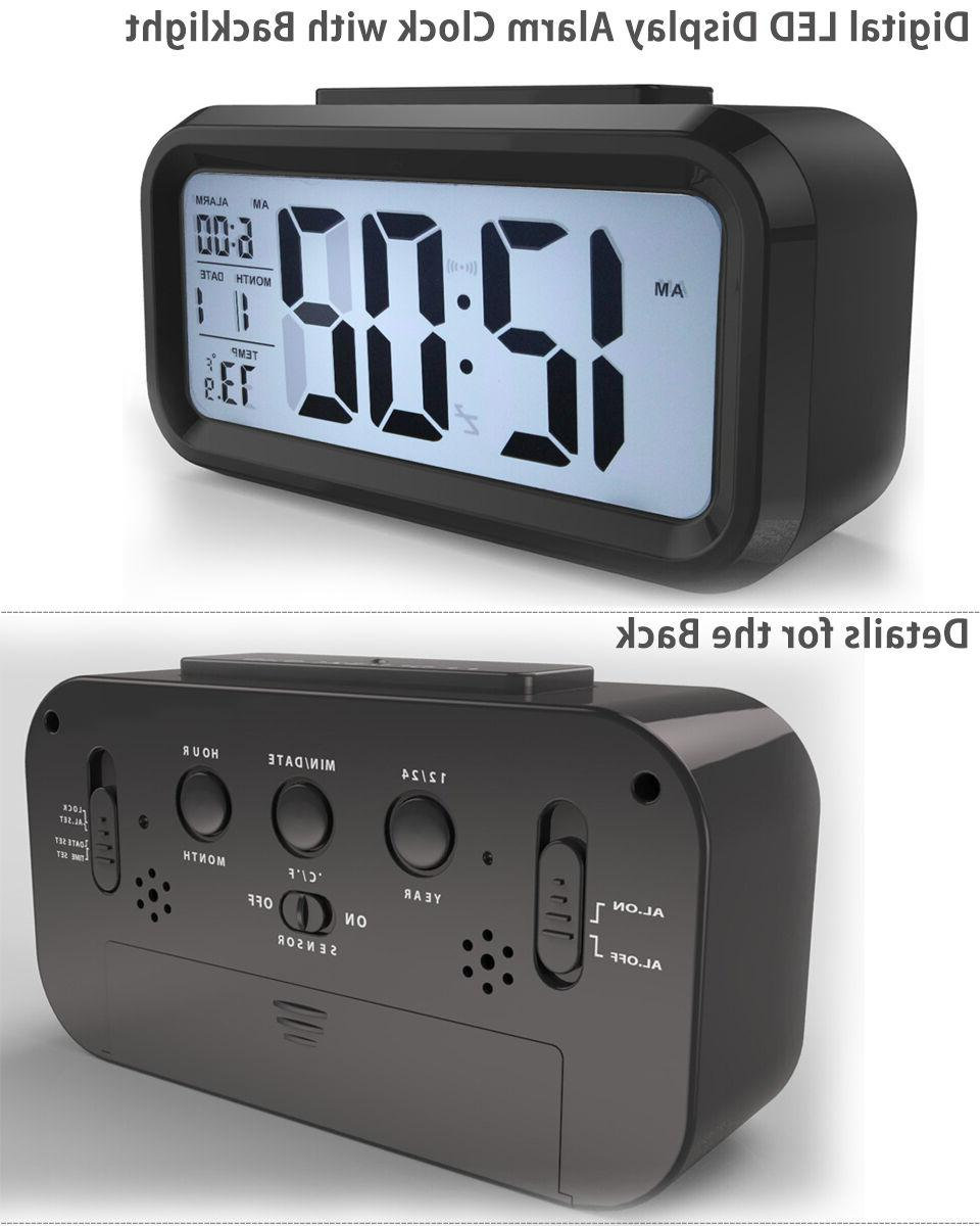 Digital LED Alarm Clock Backlight Time Thermometer