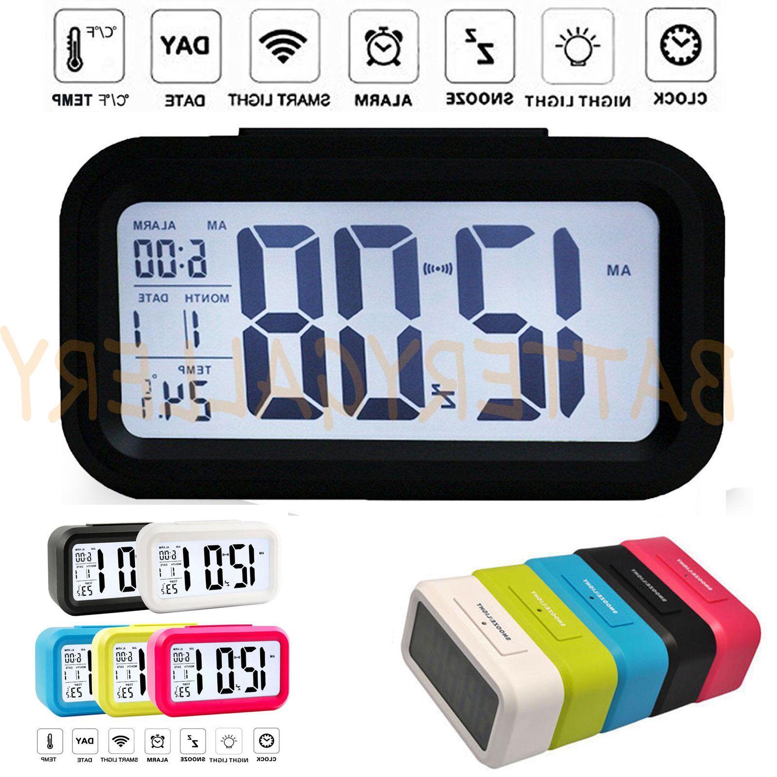 digital snooze led alarm clock backlight time