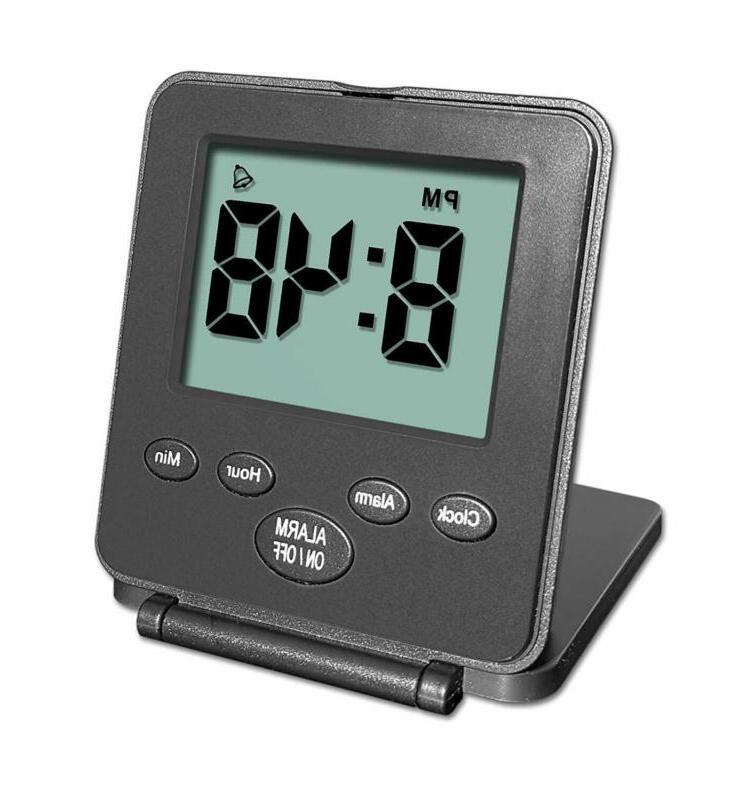 digital travel alarm clock no bells no