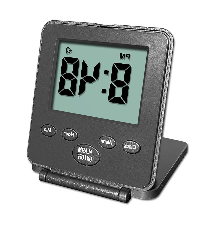 digital travel alarm clock simple operation loud