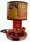 Disney CARS - Talking Lightning McQueen Table Lamp & Alarm C
