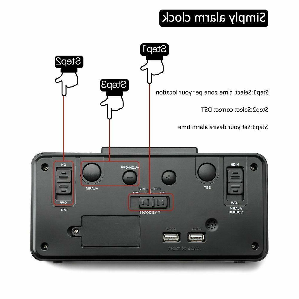 DreamSky Alarm USB Port for Charging, Dimmer