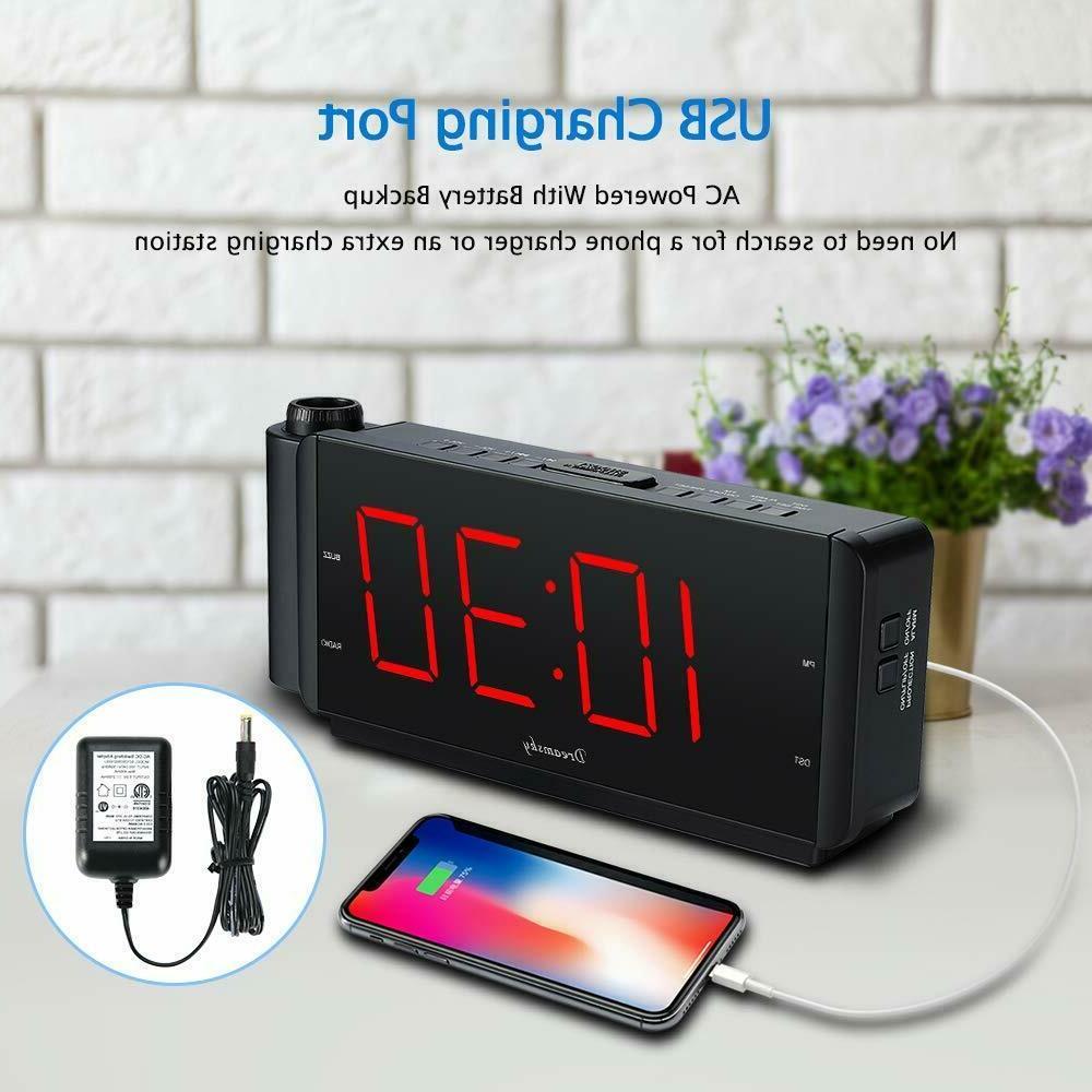 DreamSky Projection Alarm Radio USB Port