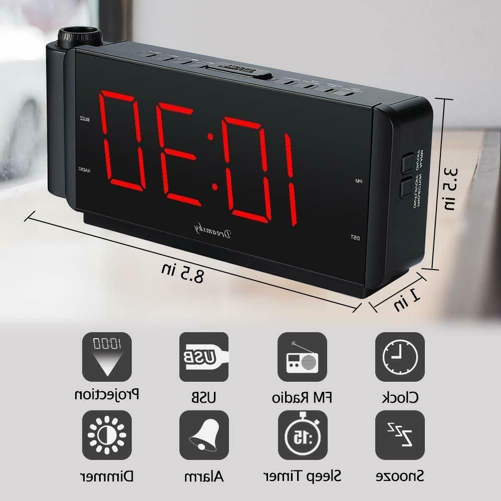 DreamSky Clock Radio with Charging Port Radio