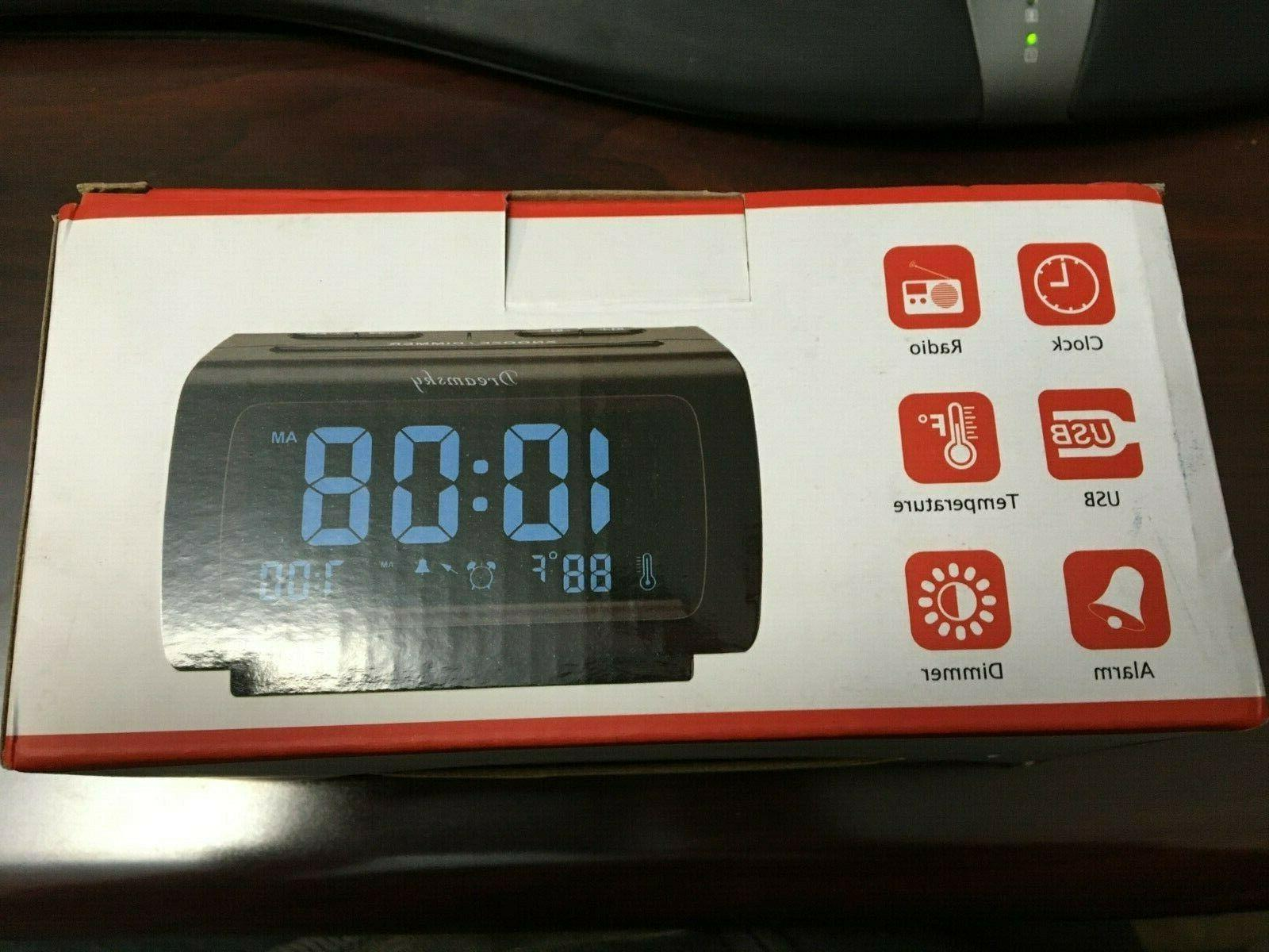 ds206 alarm clock with usb port fm