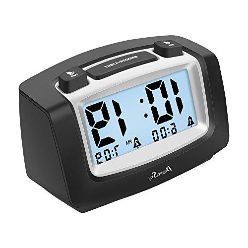 DreamSky with Snooze, Portable Operated, Alarms Clock for Bedroom