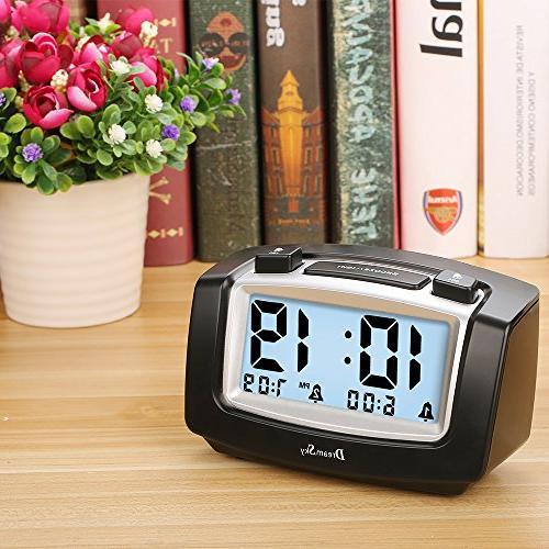 DreamSky Alarm with Snooze, Portable Battery Ascending Alarms Simple Operate Clock for