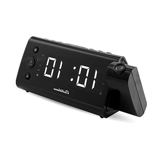 Electrohome Alarm with Time Battery Auto Alarm, 1.2-Inch Display Smartphones Tablets