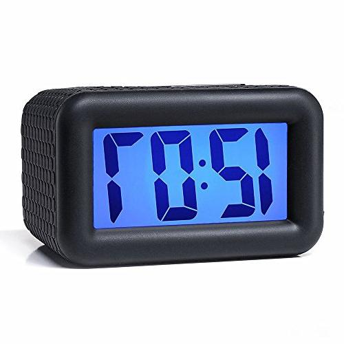 Easy Setting, Alarm Clock with and LCD Clock Easy to Ascending Sound Alarm Handheld Sized, Batteries