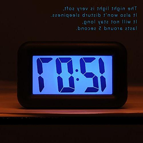 Easy Setting, and Function, Large LCD Clock Easy to Ascending Sound Alarm Handheld Sized, Batteries