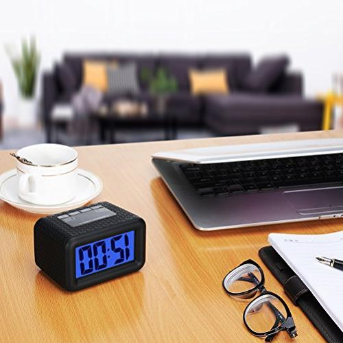 Easy Alarm with and Large LCD Display Travel Clock Handheld