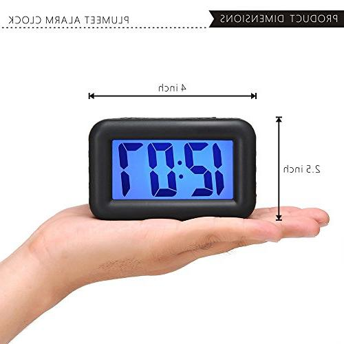 Alarm with and Nightlight Large LCD Display Travel Clock Easy Ascending Handheld Sized, Powered