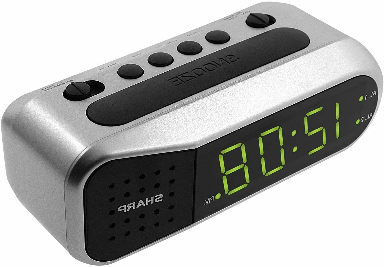 Sharp Electric Digital Dual Alarm Battery