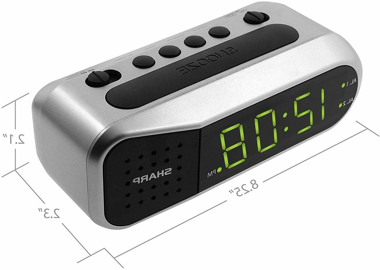 Sharp Digital Alarm Clock LED Large