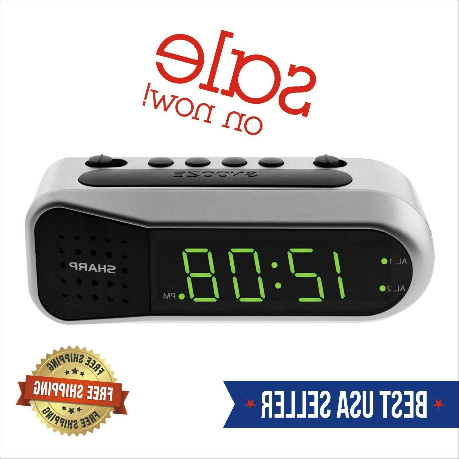 electric digital dual alarm clock battery backup