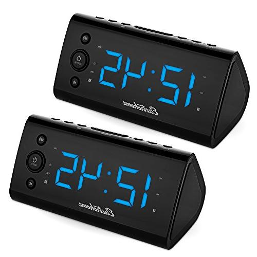 Magnasonic Electrohome Alarm Clock Radio with USB Charging f