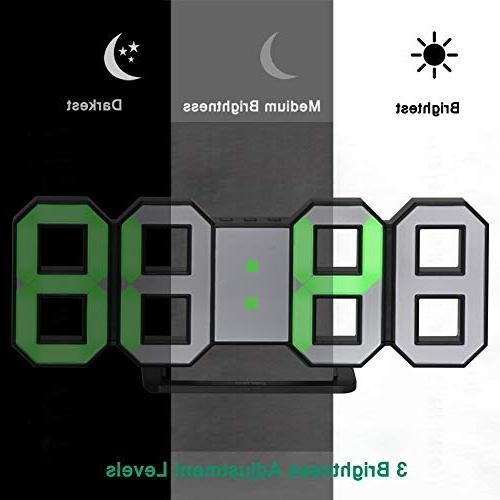 Perfeo LED Electronic Wall Clock, Digital Table Alarm 24/12 Hour Plastic Clock,