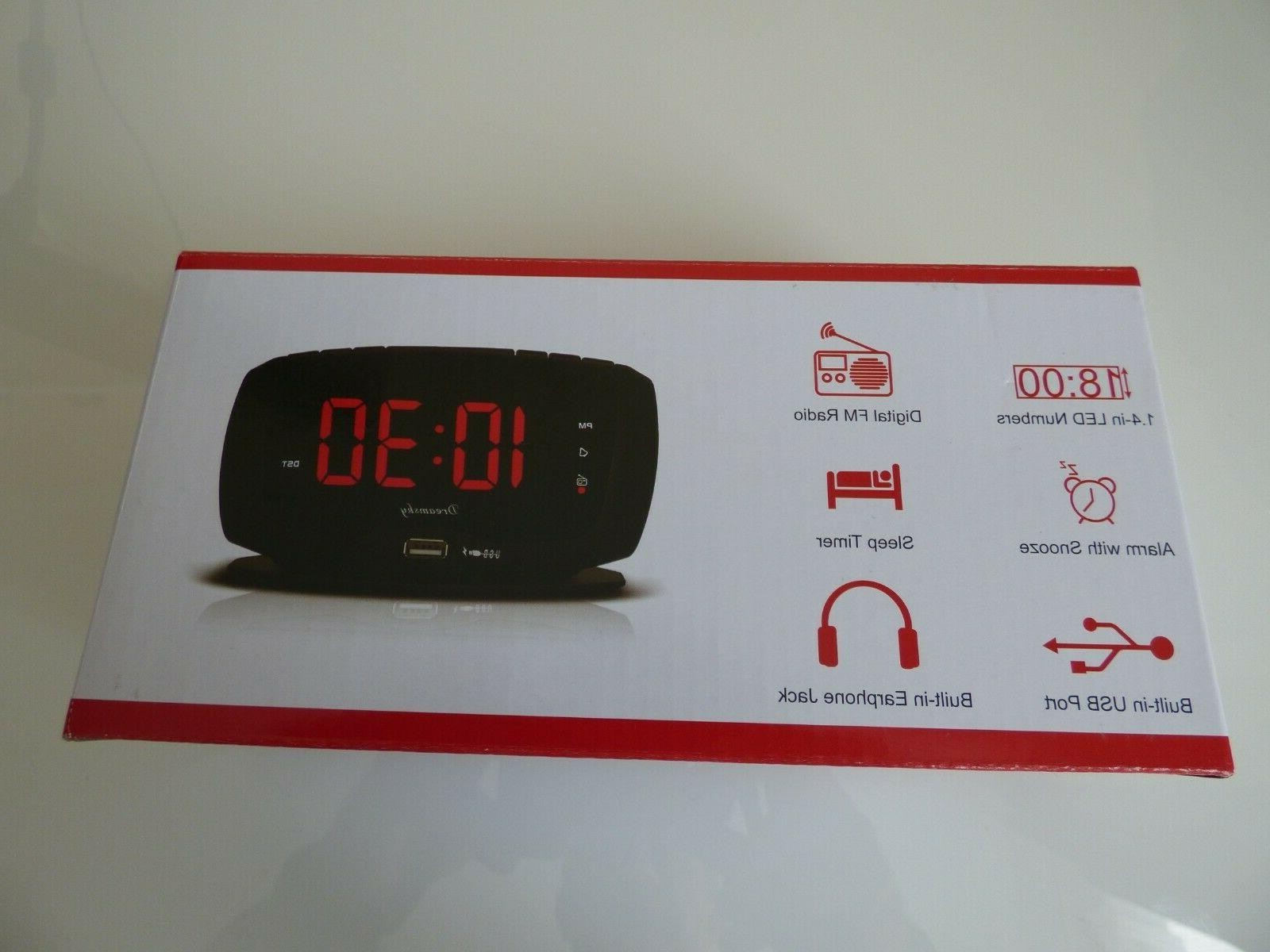 DreamSky Alarm Radio LED Display ports