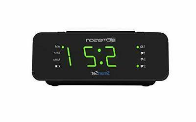 new smart set alarm clock radio