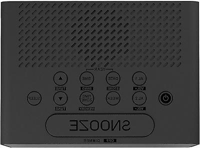 Emerson SmartSet Clock Radio LED Large Display,Snooze