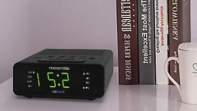 "Emerson Clock Radio w/AM/FM,0.9"" Large Display,Snooze"
