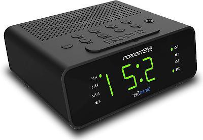 Emerson SmartSet Clock Large Display,Snooze