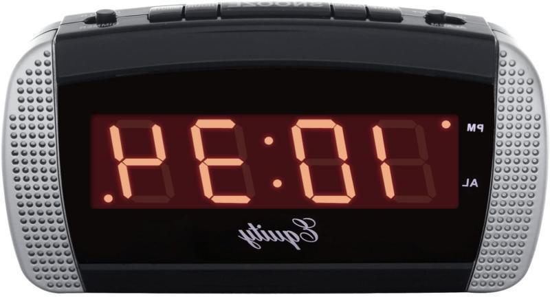 Equity by La Crosse 30240 Super Loud LED Alarm Clock,Black/S