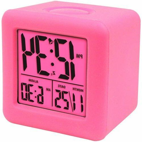 equity soft cube lcd travel alarm clock