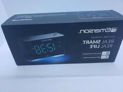 Emerson Clock Radio Speaker, Charging Station/Phone and