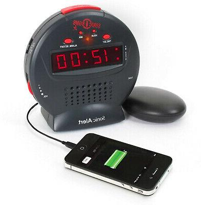extra loud alarm clock and sonic bomb
