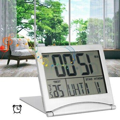 folding led digital alarm clock electronic calendar