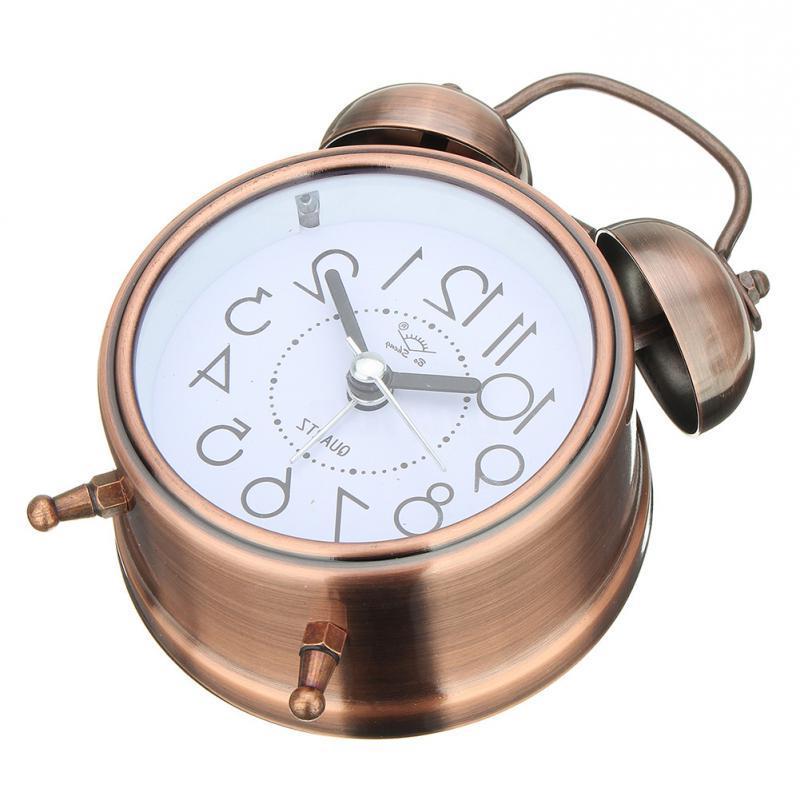 <font><b>Alarm</b></font> Silent Pointer <font><b>Clocks</b></font> Number Dual Bell <font><b>Alarm</b></font> <font><b>Clock</b></font> Bedside Light Decors