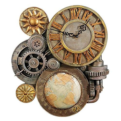 gears time sculptural wall clock