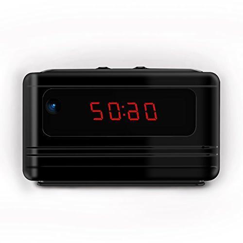 hidden alarm clock spy motion