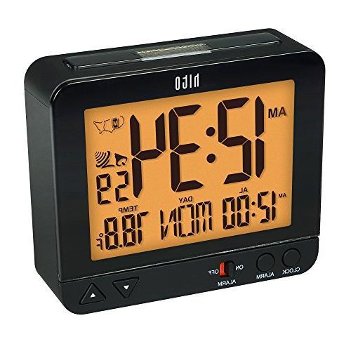 hito Atomic Bedside Travel Auto Auto Night Day Indoor Temperature Timezones Desk