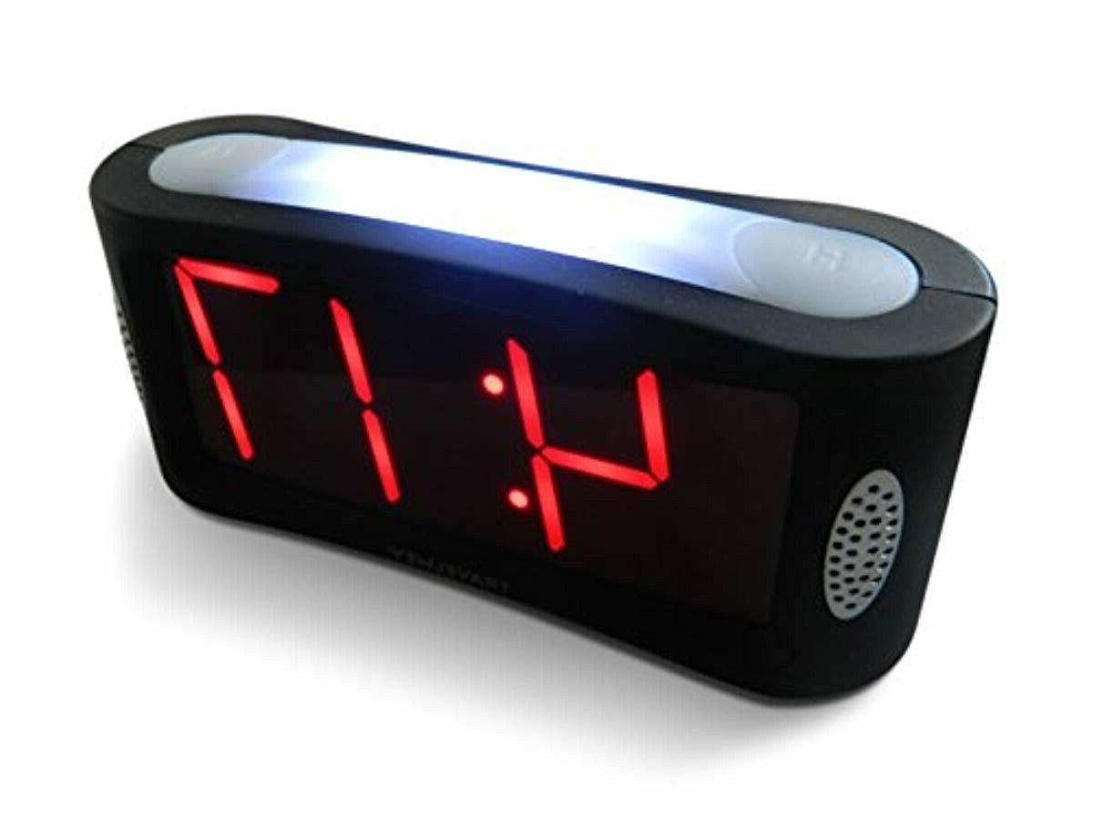 home led digital alarm clock outlet powered