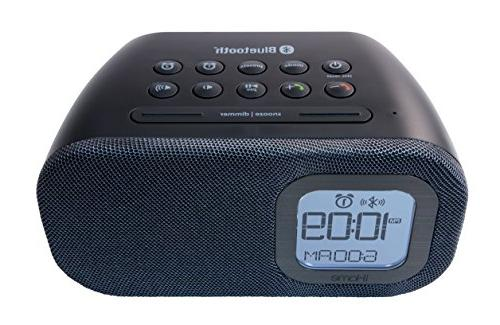 iHome Bluetooth Alarm FM Clock Radio with Speakerphone and Charging Black