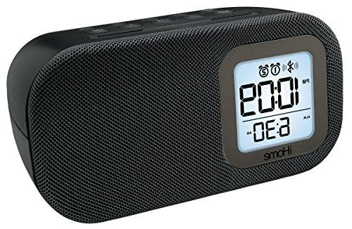 iHome iBT210B Dual Alarm Clock with and Charging Black