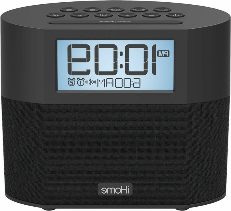 ibt231 bluetooth dual alarm fm clock radio
