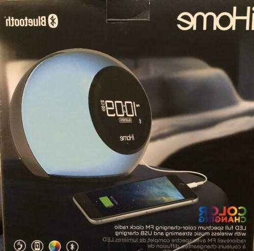 iHome iBT29 Bluetooth Clock Radio Color Changing