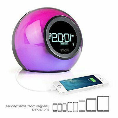 ibt29bc bluetooth color changing dual alarm clock