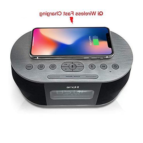 iHome iBTW38 Alarm Clock Bluetooth Stereo Lightning iPhone Dock Station Xs, Max, USB Any