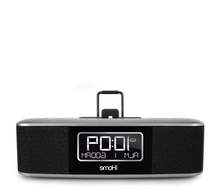 iHome Stereo FM Clock with USB - Black