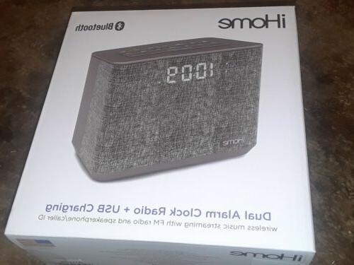 ihome ibt232 bluetooth dual alarm clock radio speakerphone u