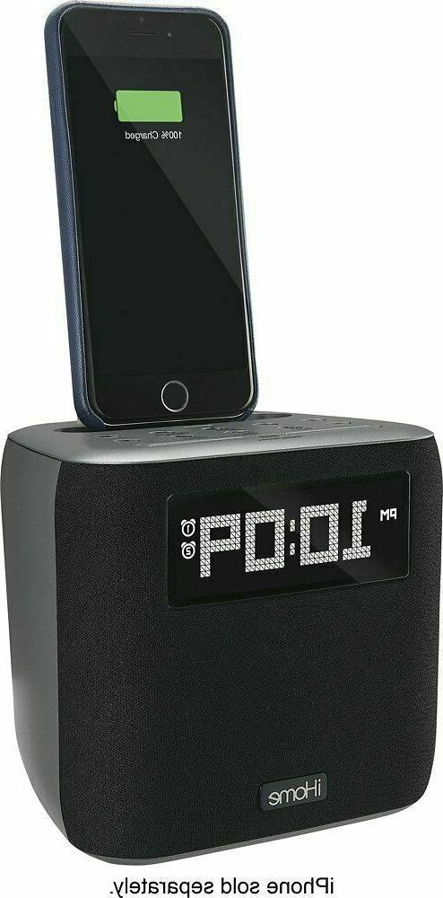 iHome Dual FM Clock Lightning Connector Dock
