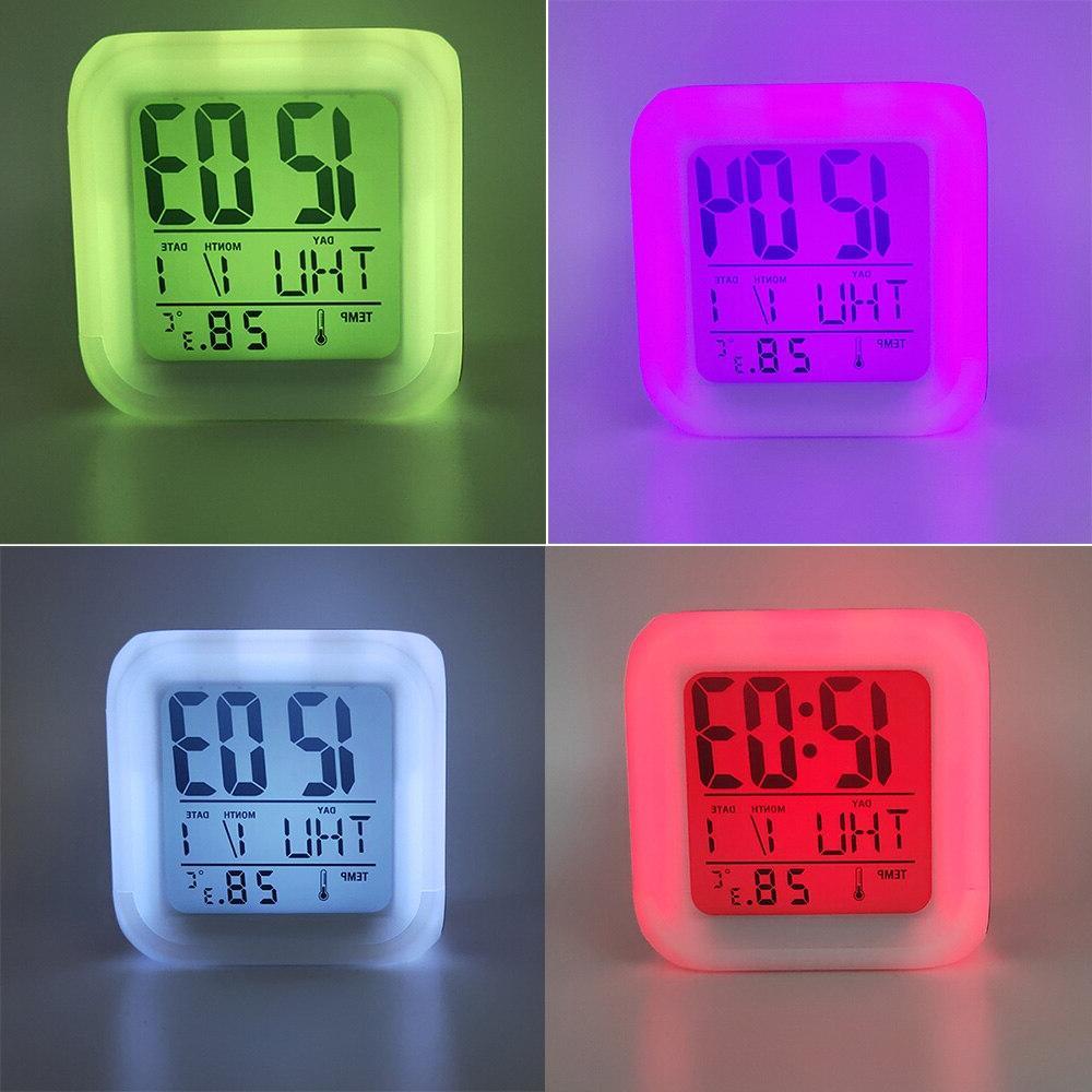 Kids Cute <font><b>Alarm</b></font> <font><b>Clock</b></font> Colors Changing Digital <font><b>Alarm</b></font> <font><b>Clocks</b></font> Student Desk with