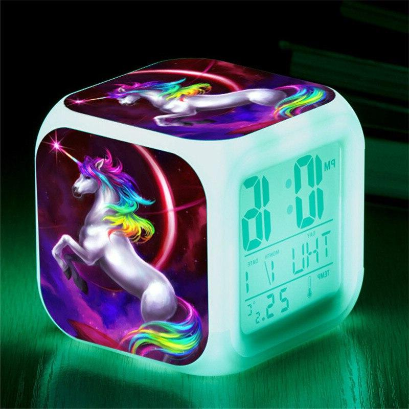 kids cute cartoon unicorn font b alarm