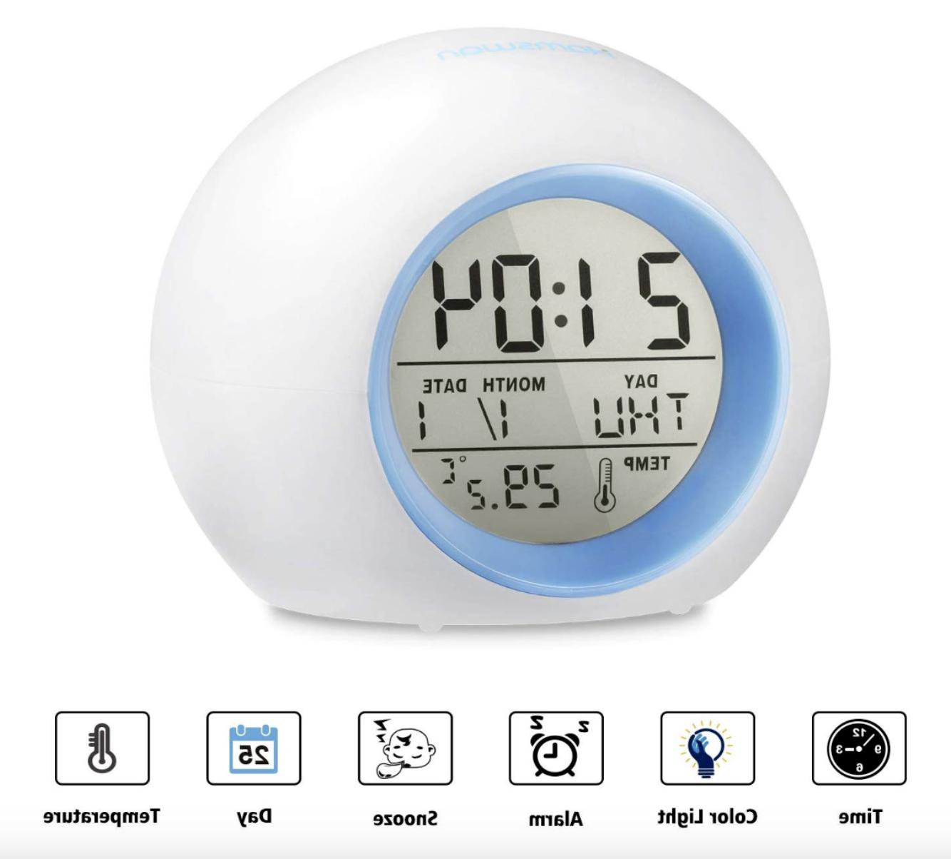 Kids Digital Light LED W/ Thermometer,