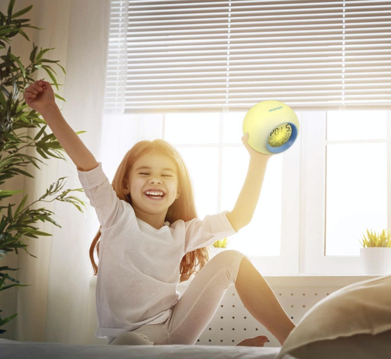 Kids Digital Light LED Clock W/ Calendar,