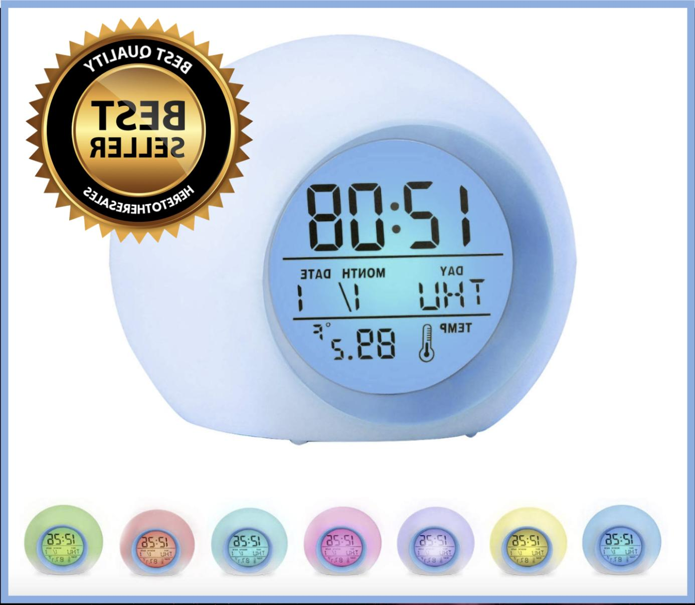 kids digital light up led alarm clock